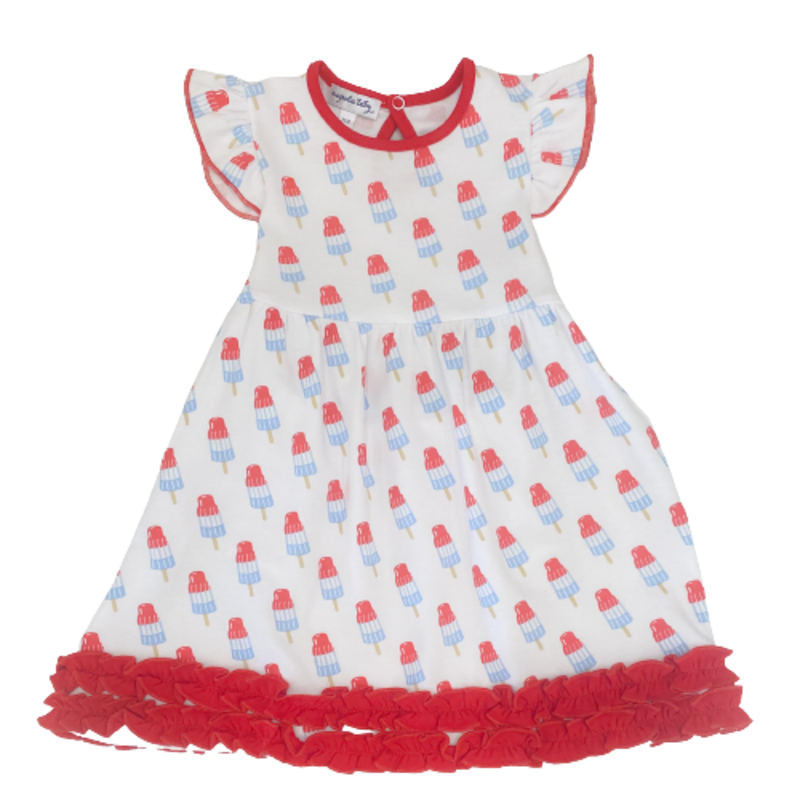 Magnolia Baby Magnolia Baby Ice Pops Printed Flutters Dress Set