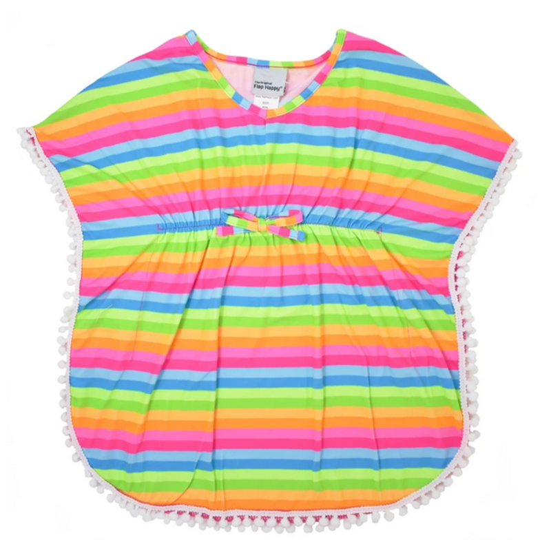 Flap Happy Flap Happy Kaia Swim Cover-Up - Neon Stripe