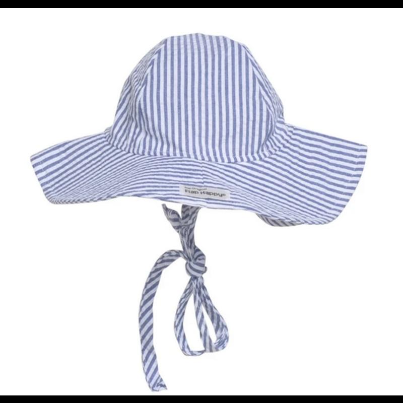 Flap Happy Flap Happy Chambray Seersucker Floppy Hat