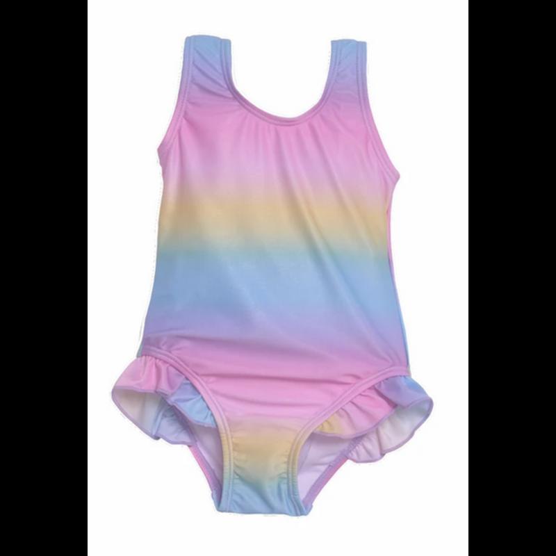 Flap Happy Flap Happy Delaney Hip Ruffle Swimsuit - Rainbow Ombre