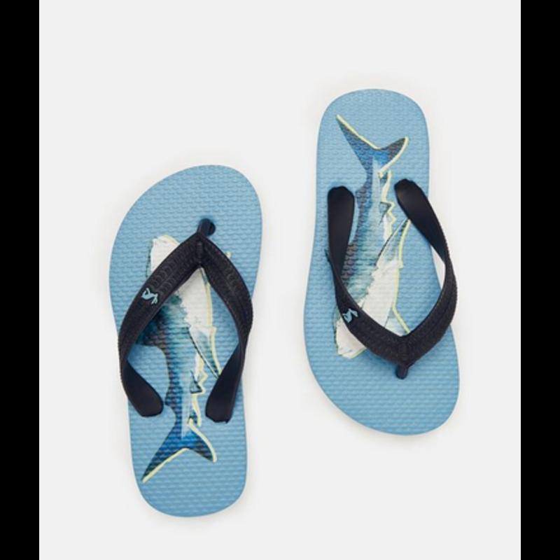 Joules Joules Blue Shark Flip Flops