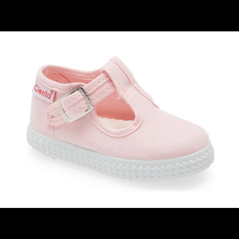 Cienta Cienta Light Pink T-Strap