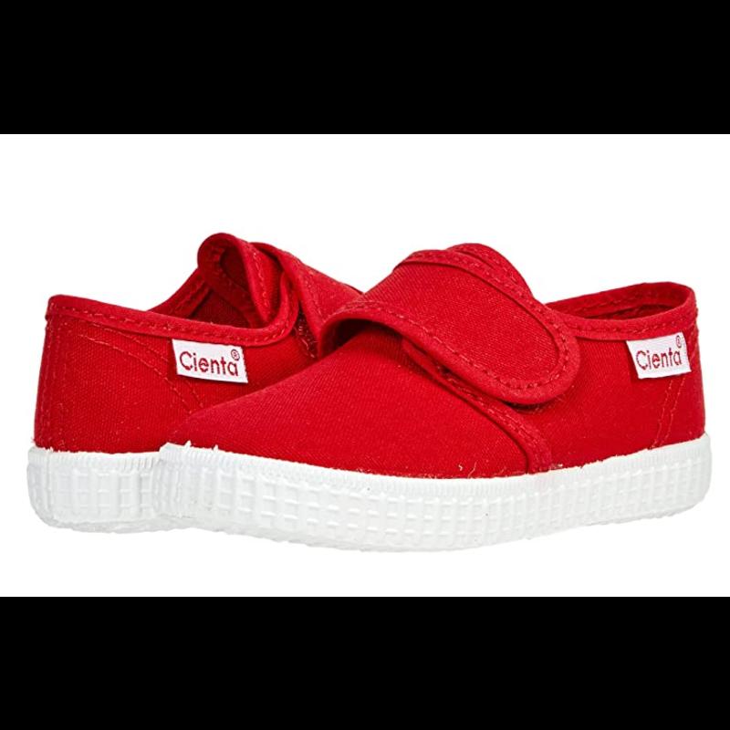 Cienta Cienta Red Canvas Velcro