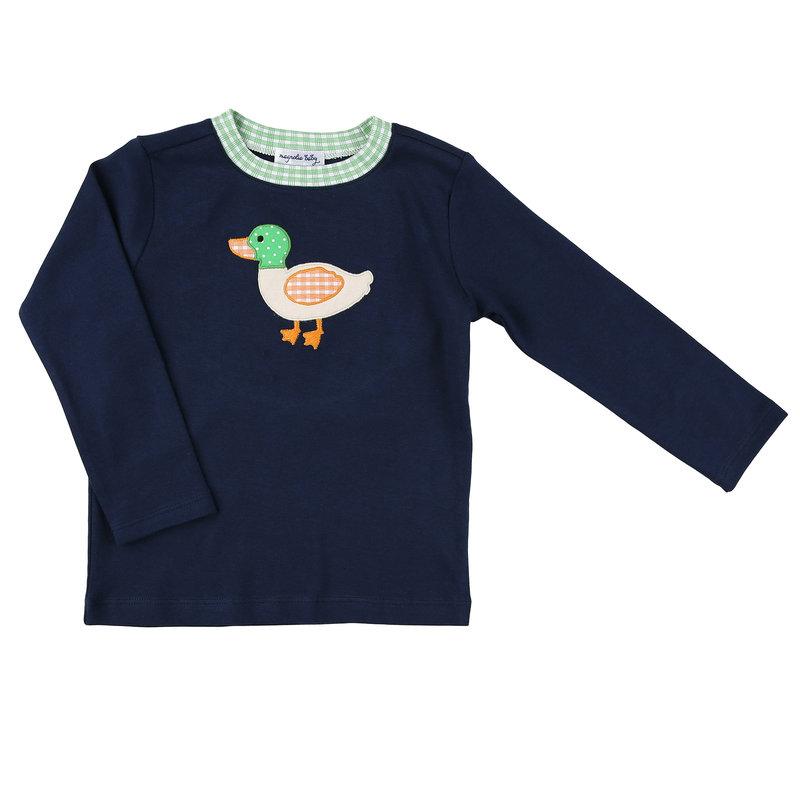 Magnolia Baby Magnolia Baby Mallard Applique LS T-Shirt
