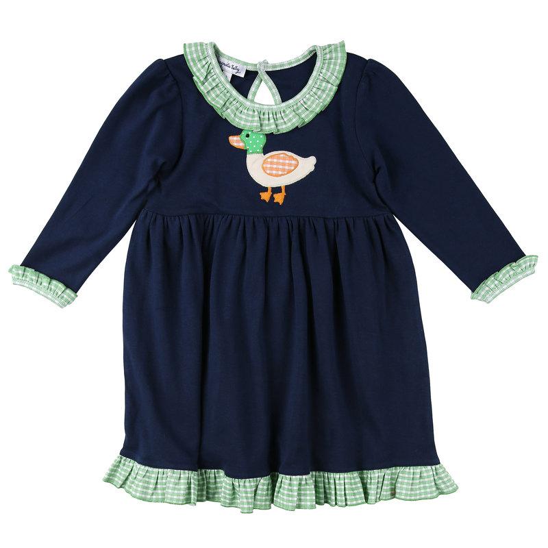 Magnolia Baby Magnolia Baby Mallard Applique LS Dress