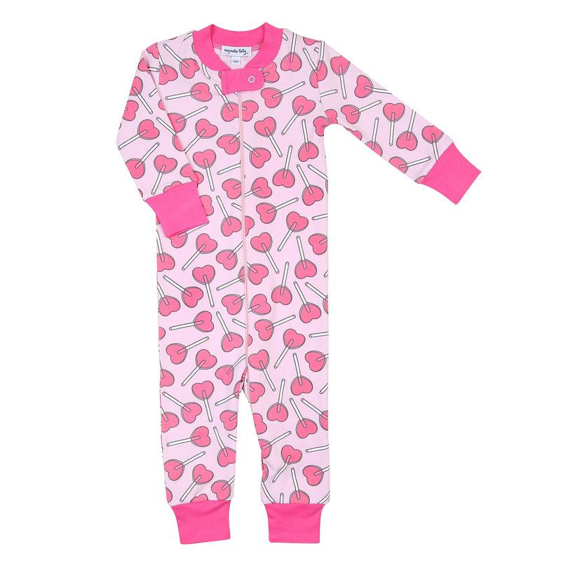 Magnolia Baby Magnolia Baby Heartpops Zipped Pajama