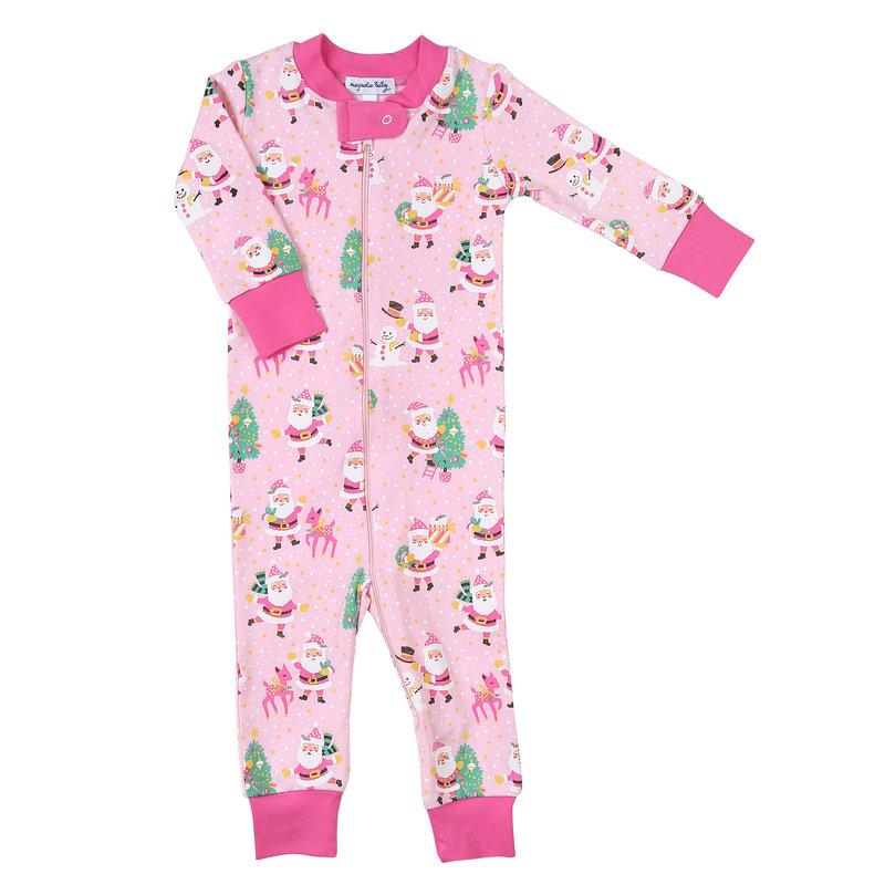 Magnolia Baby Magnolia Baby Jolly Santa Zipped Pajama