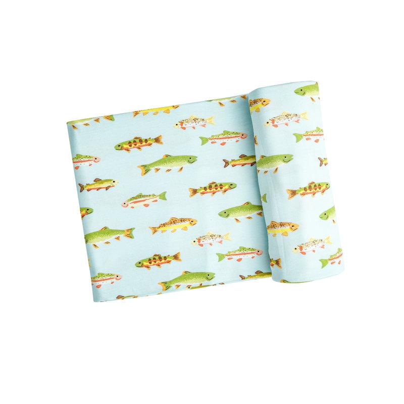 Angel Dear Angel Dear Freshwater Fish Swaddle Blanket  *PRE-ORDER*