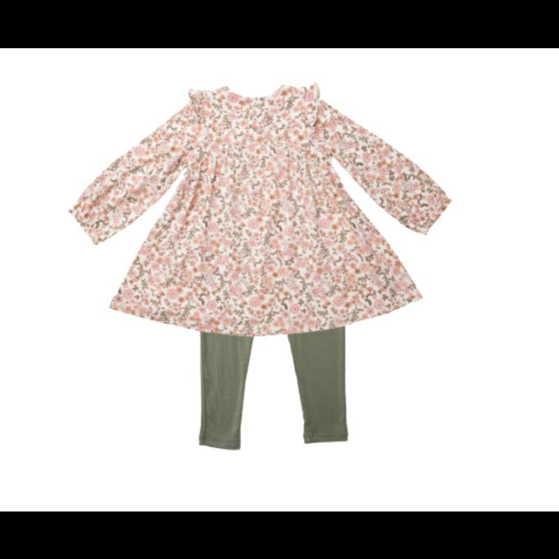 Angel Dear Angel Dear Vintage Calico Ruffle Dress Legging Set *PRE-ORDER*