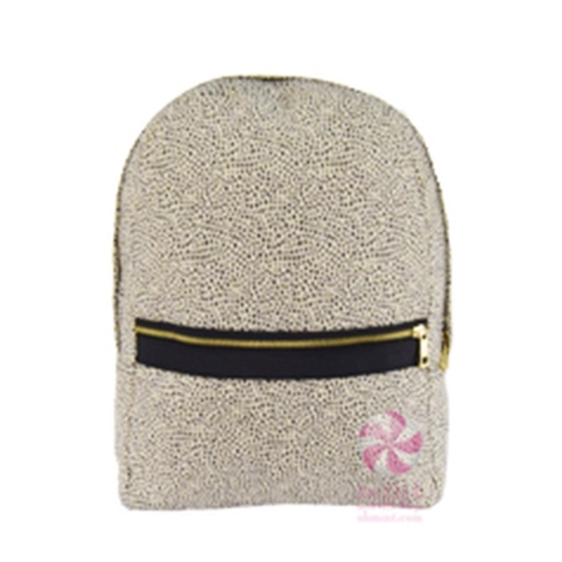 Mint Mint Cheetah Seersucker Medium Backpack