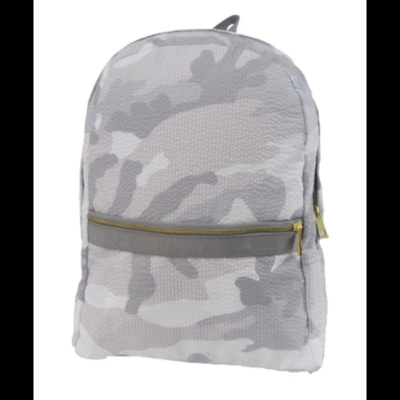 Mint Mint Snow Camo Seersucker Medium Backpack
