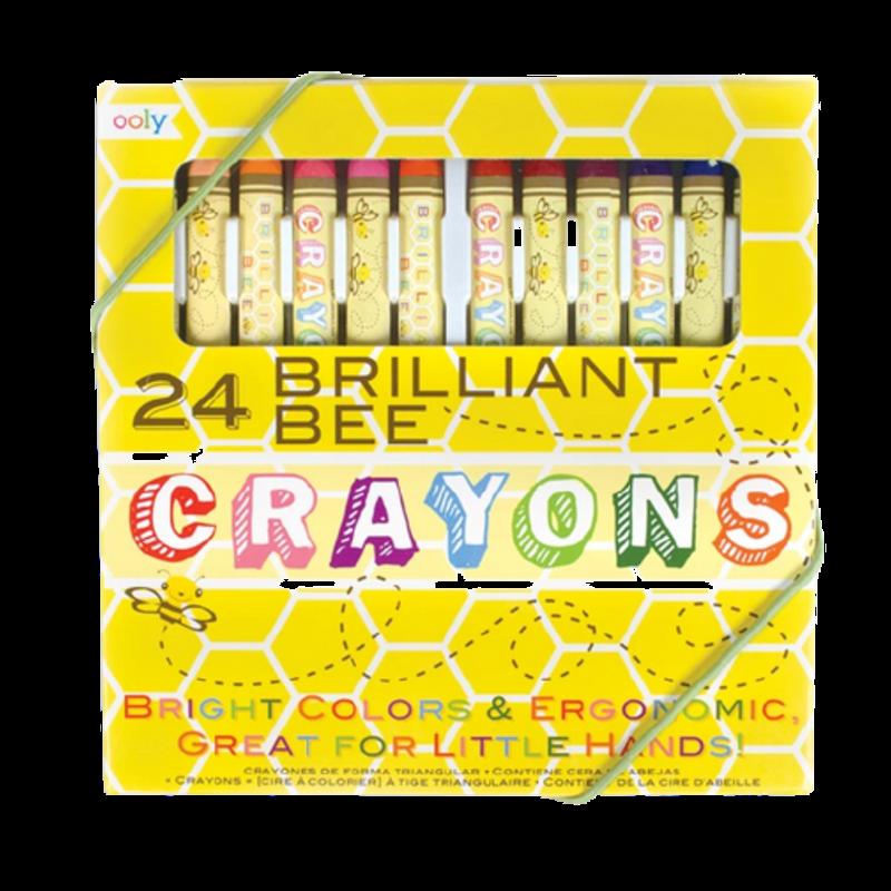 Ooly Ooly Briliant Bee Crayons - Set of 24