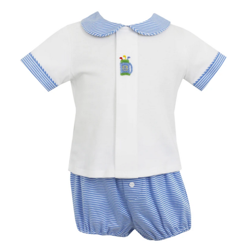 Petit Bebe Petit Bebe Stripe Golf Bag Boy's Diaper Set