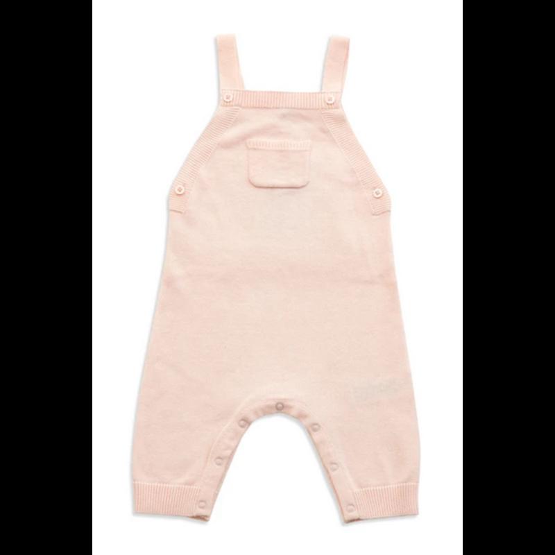 Angel Dear Angel Dear Light Pink Ruffle Pocket Overall *PRE-ORDER*
