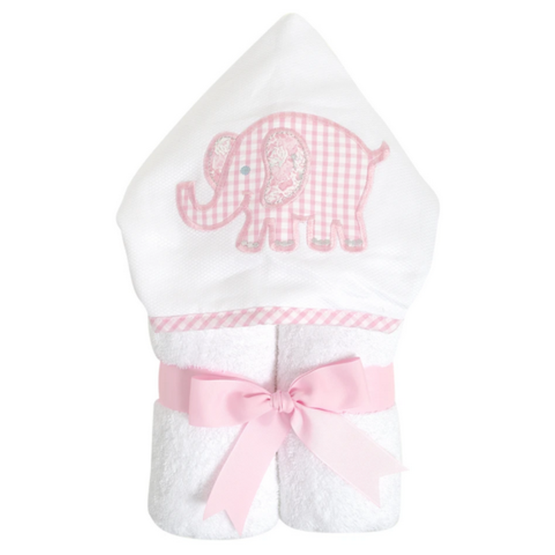 3 Marthas 3 Marthas Pink Elephant Everykid Towel