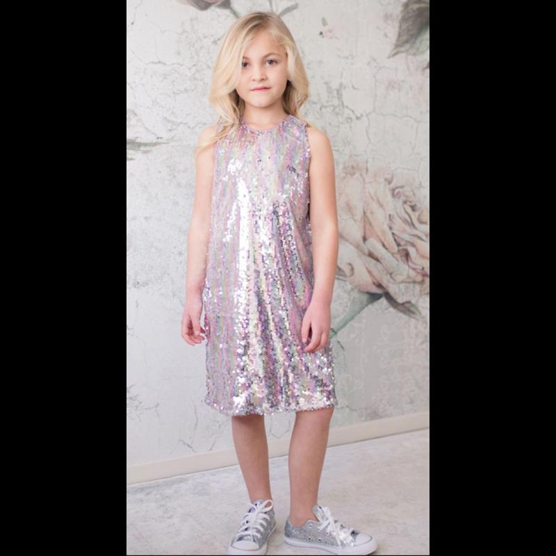 Isobella and Chloe Pink Mauvelous You Dress