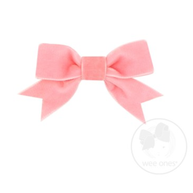 Wee Ones Bows Wee Ones Mini Blush Velvet Bow