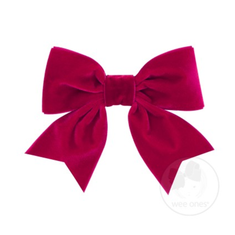 Wee Ones Bows Wee Ones Mini King Cardinal Velvet Bow
