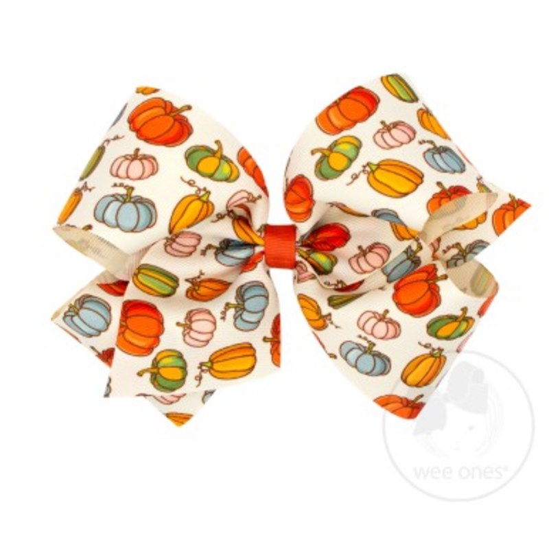 Wee Ones Bows Wee Ones King Fall Harvest Print Bow