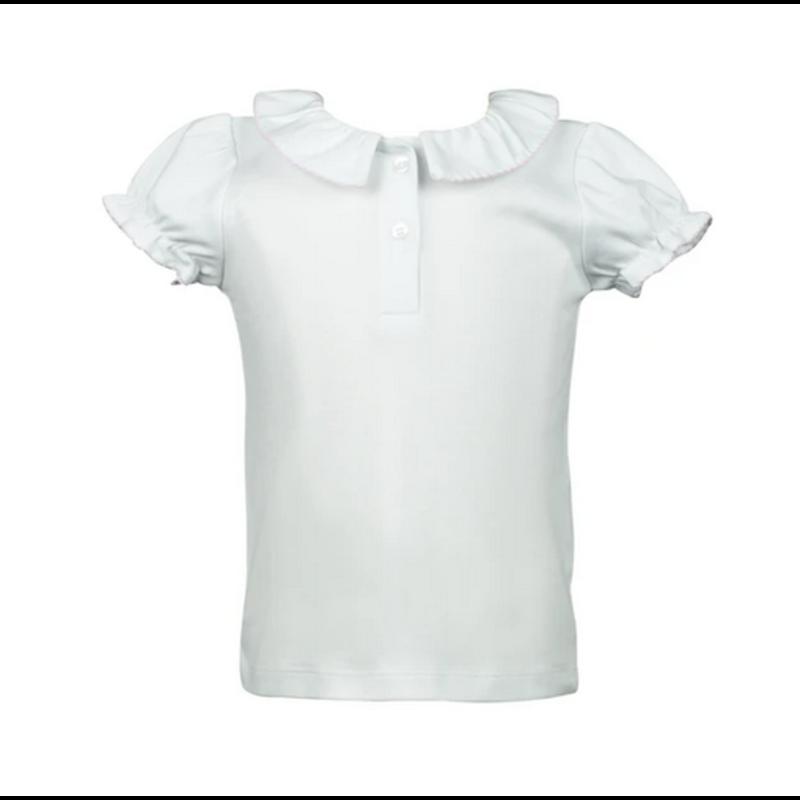 The Proper Peony The Proper Peony Rainbow SS Split Collar Shirt
