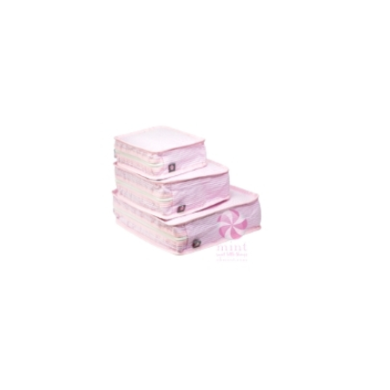 Mint Mint Pink Seersucker Stacking Set