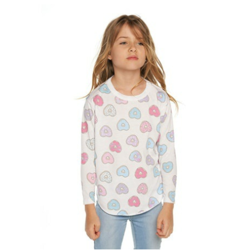 Chaser Chaser Donut Love Jersey LS Shirttail Tee