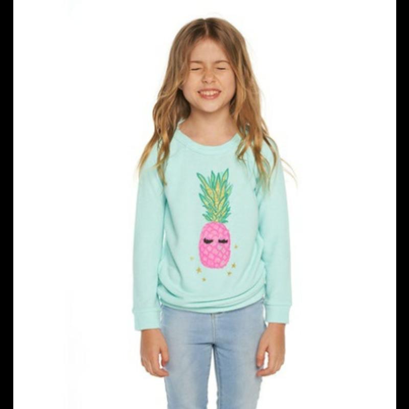 Chaser Chaser Pineapple Knit Raglan Pullover