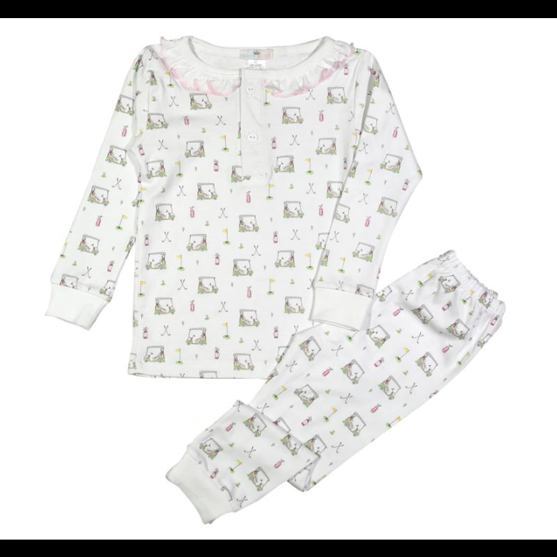Baby Loren Pink Golf Two Piece Pajama