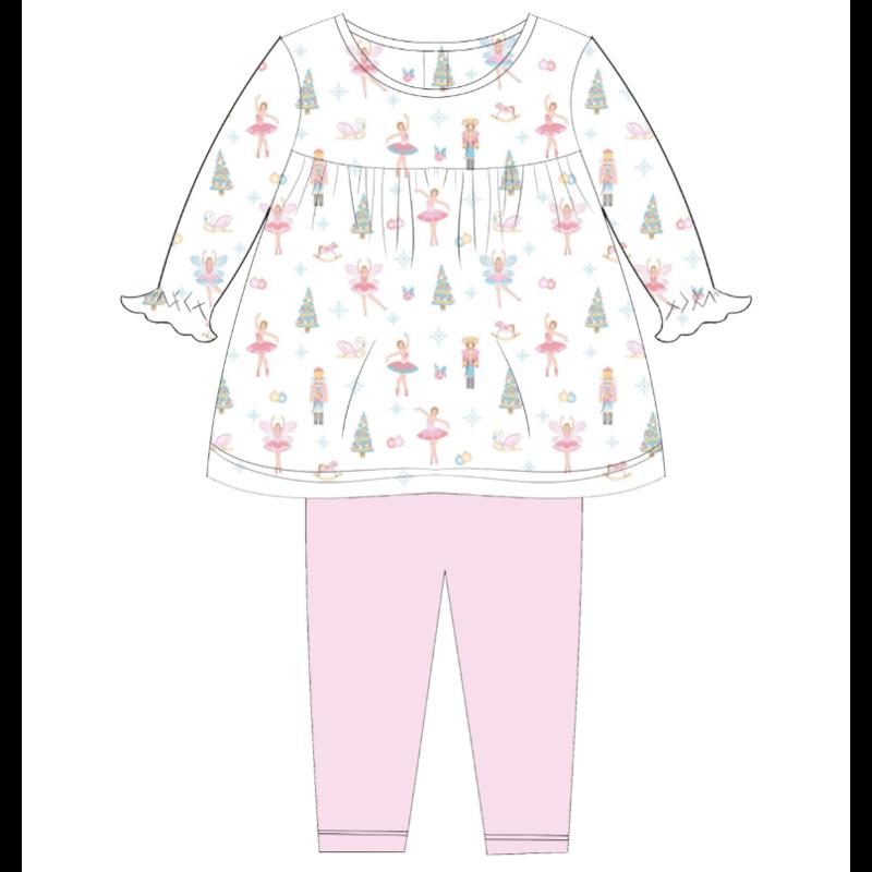 Baby Loren Pink Nutcrackers Pant Set