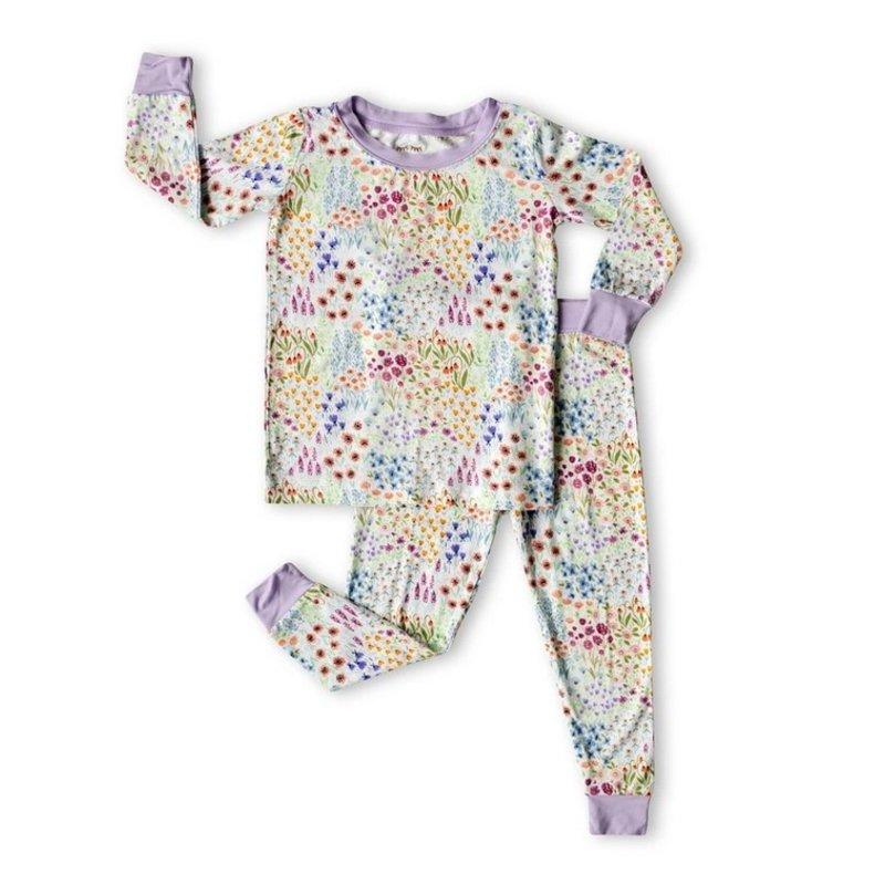 Little Sleepies Little Sleepies Flower Fields Two-Piece Pajamas