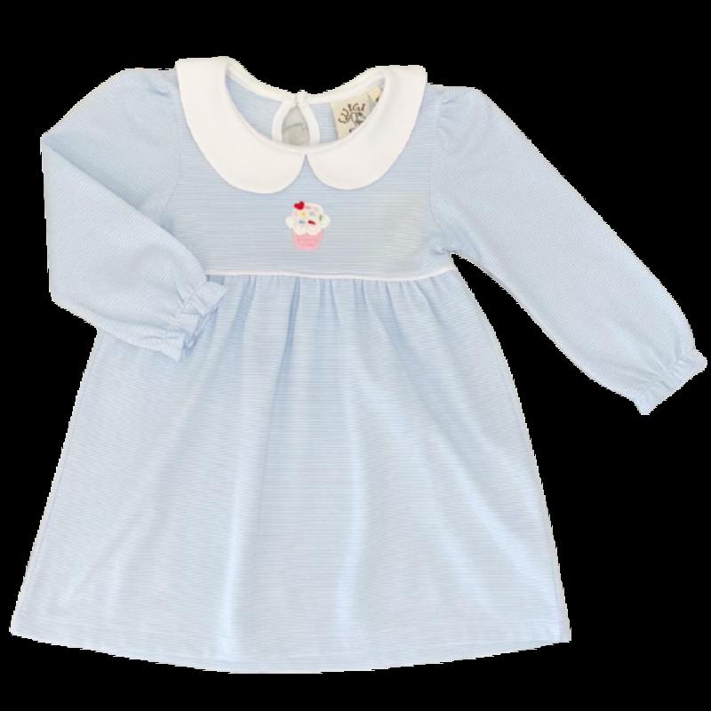 Luigi Luigi Stripe Cupcake Dress