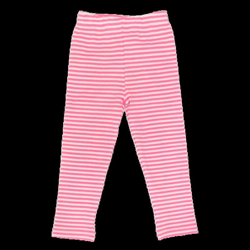 Luigi Luigi Light Bubblegum/White Stripe Leggings
