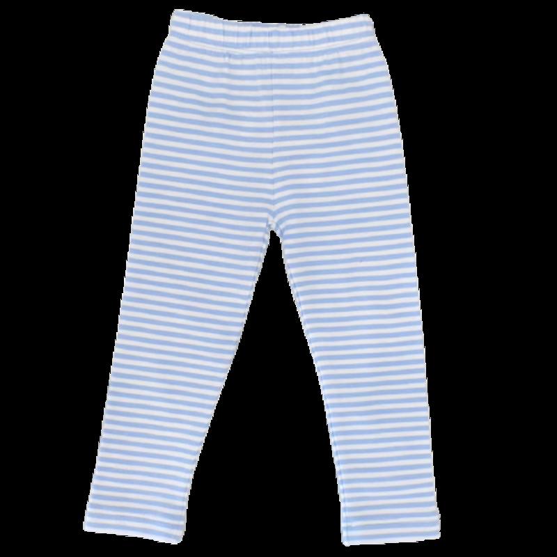 Luigi Luigi Sky Blue/White Stripe Leggings