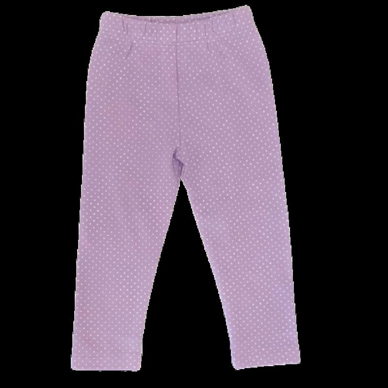 Luigi Luigi Lavender/White Dot Print Leggings