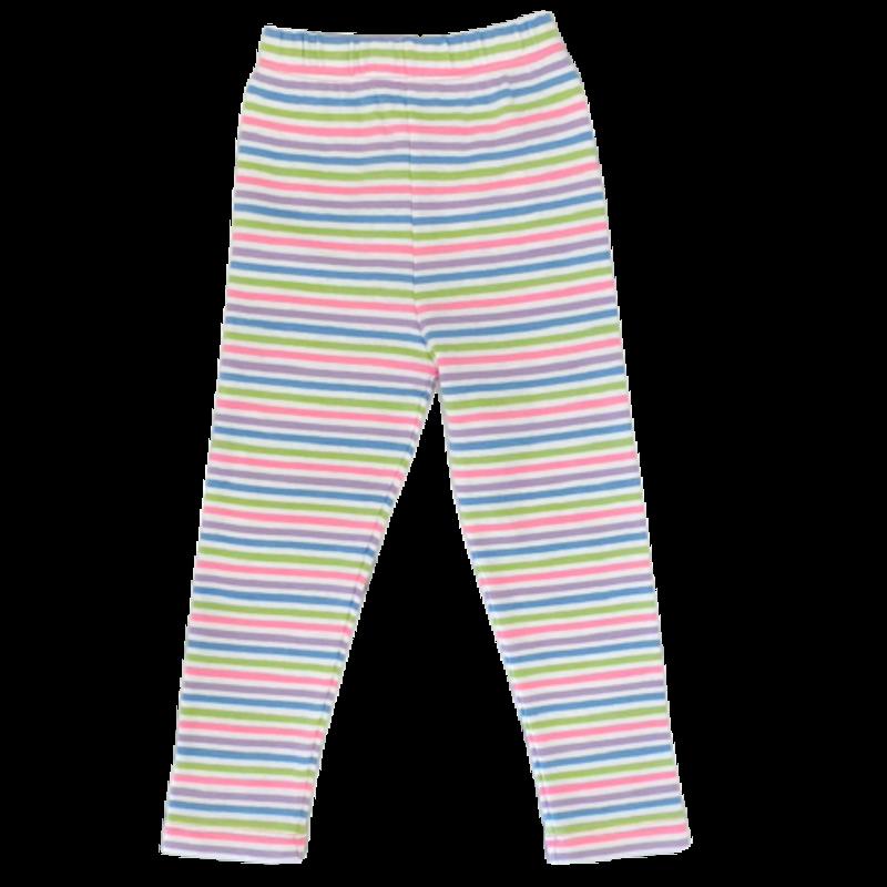 Luigi Luigi Lavender Multi-Colored Stripe Leggings