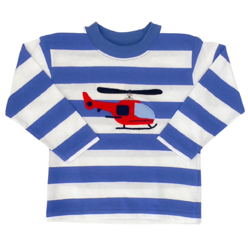 Luigi Luigi Stripe Helicopter T-Shirt