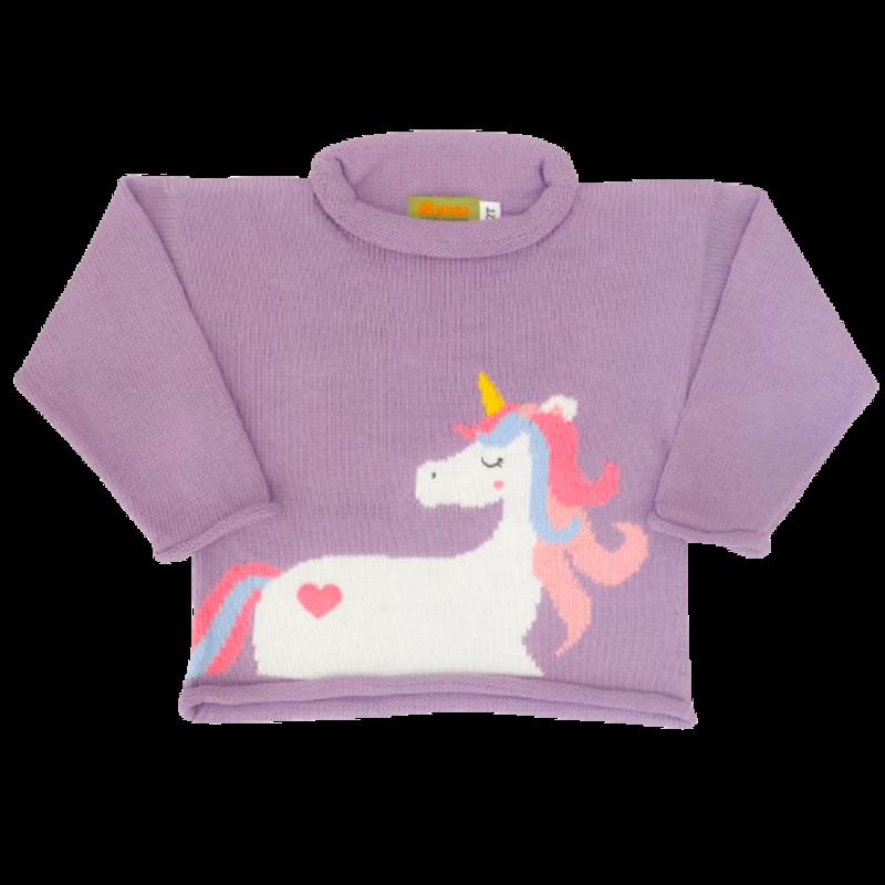 Luigi Luigi Unicorn Rolled Neck Sweater