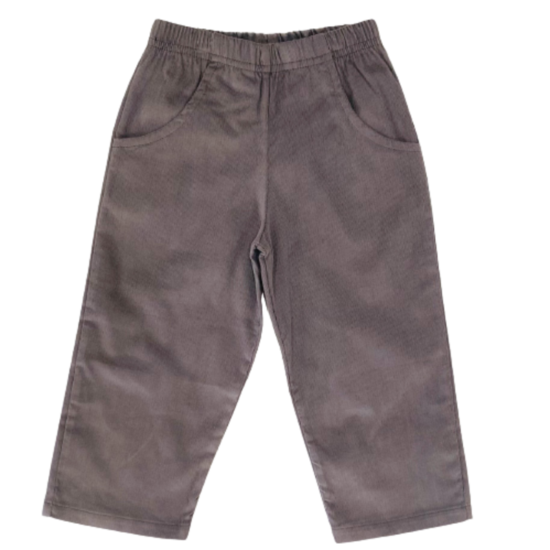 Luigi Luigi Corduroy Pants W Pockets - Charcoal