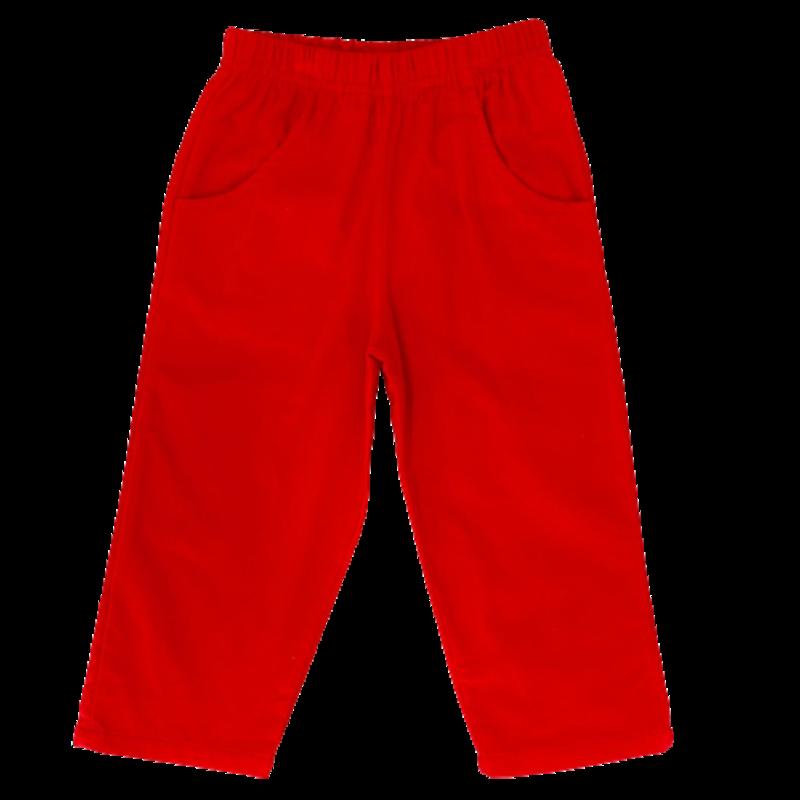 Luigi Luigi Corudoy Pants W Pockets - Deep Red