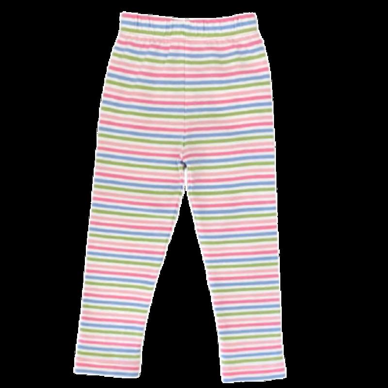Luigi Luigi Blue Multi-Colored Stripe Leggings