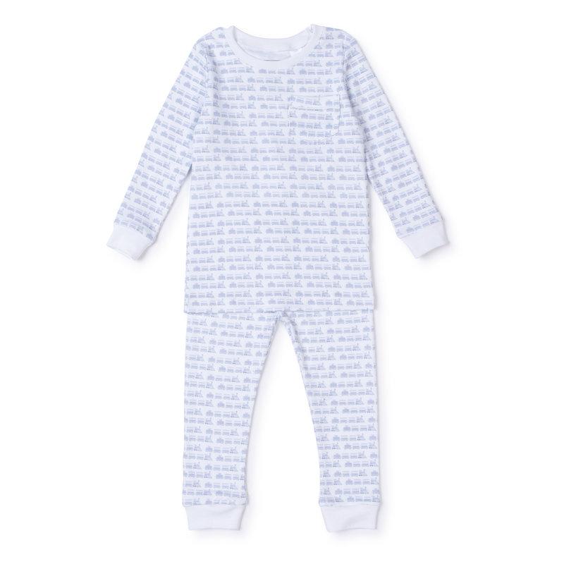Lila + Hayes Lila + Hayes Choo Choo Blue Bradford Pajamas