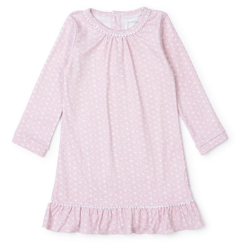 Lila + Hayes Lila + Hayes Pink Snowflakes Carlin Dress *PRE-ORDER*