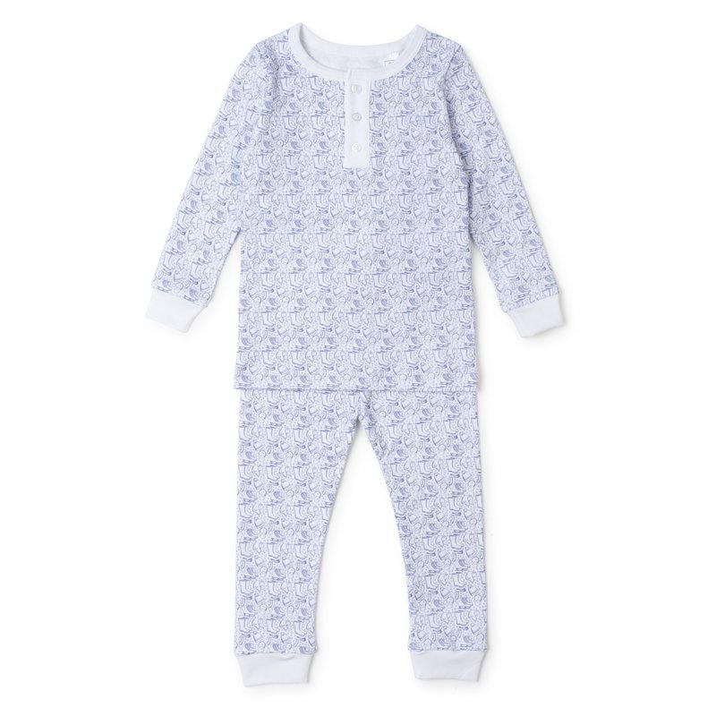 Lila + Hayes Lila + Hayes Blue Bundle Up Jack Pajamas *PRE-ORDER*