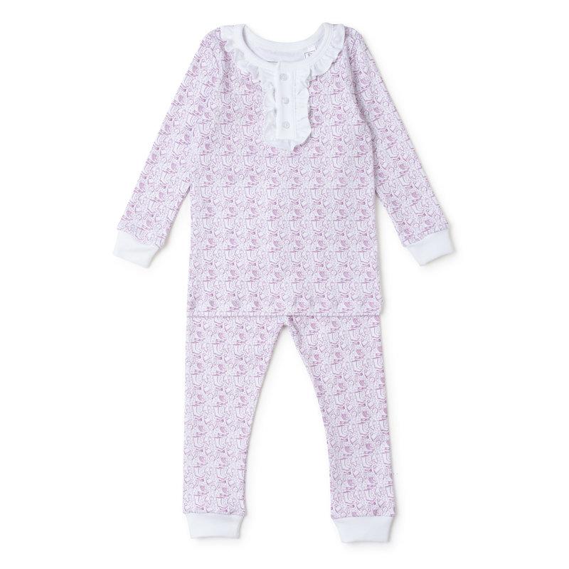 Lila + Hayes Lila + Hayes Pink Bundle Up Alden Pajamas *PRE-ORDER*