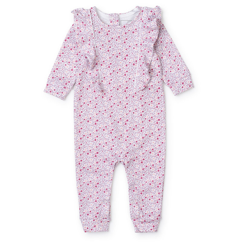 Lila + Hayes Lila + Hayes Berry Floral Evelyn Romper