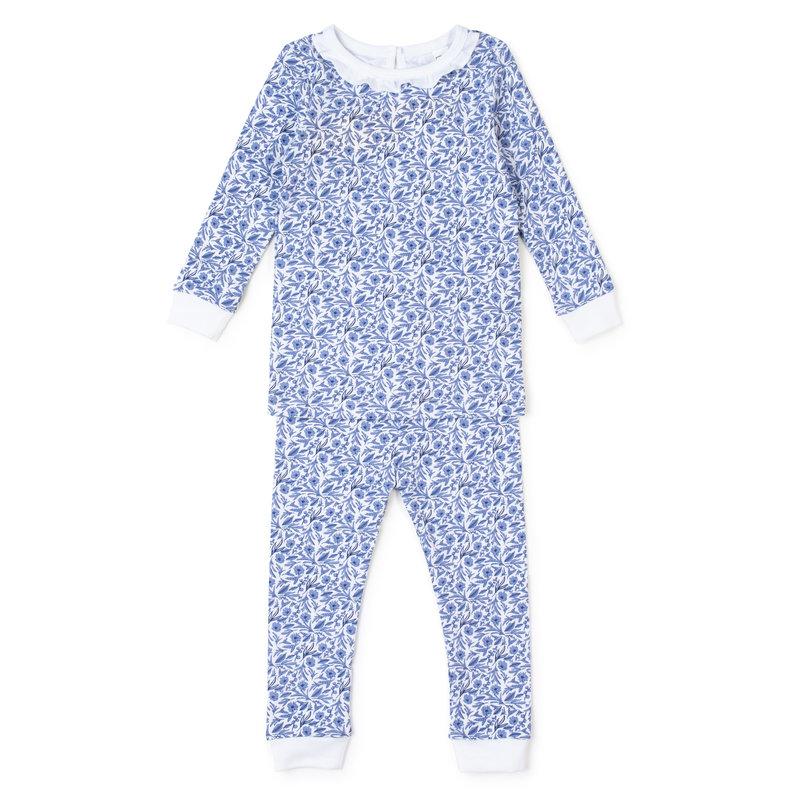 Lila + Hayes Lila + Hayes Blue Blooms Ava Pajamas