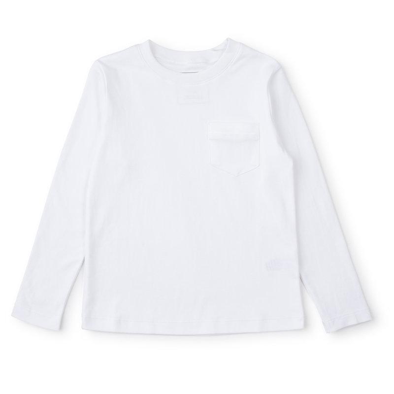Lila + Hayes Lila + Hayes  White Blake LS Pocket T-Shirt