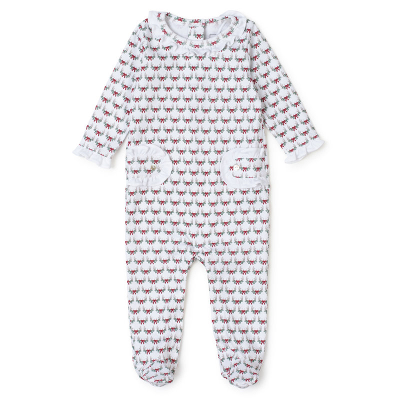 Lila + Hayes Lila + Hayes Antler Bows Lucy Romper *PRE-ORDER*
