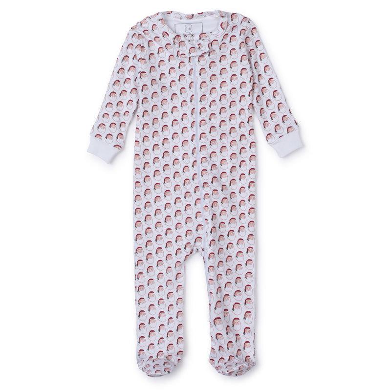 Lila + Hayes Lila + Hayes Holly Jolly Santa Parker Zipper Pajama *PRE-ORDER*