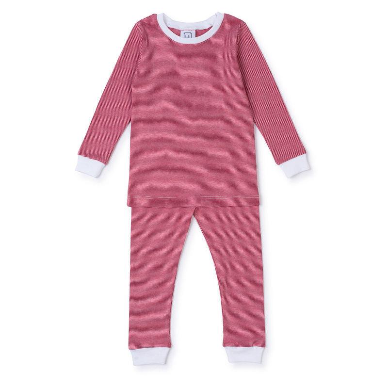 Lila + Hayes Lila + Hayes Red/White Stripe Grayson Pajamas